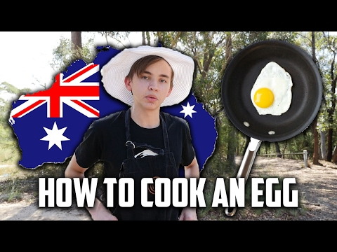 COOKING EGGS ON A ROCK IN AUSTRALIA!!
