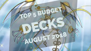 Yu-Gi-Oh! Top 5 Budget Decks For August 2018