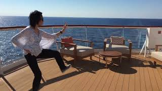 Played Tai Chi on a Caribbean Cruise Ship, Nov. 2017