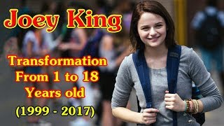 Joey King transformation from 1 to 18 years old