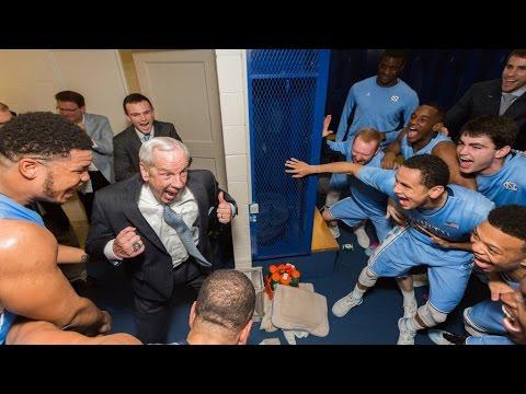 Carolina Basketball Locker Room Celebration Post 76 72 Win At Duke