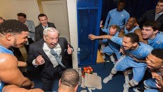 Carolina Basketball: Locker Room Celebration Post 76-72 Win At Duke