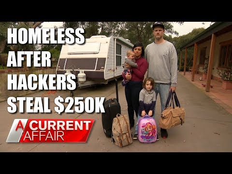 Celebrity chef homeless after hackers steal $250k | A Current Affair Australia