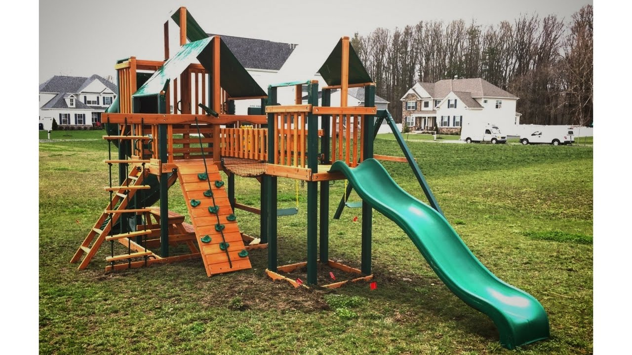Gorilla Treasure Trove I Deluxe Swing Set Review 01 1021 Ts 1 Youtube