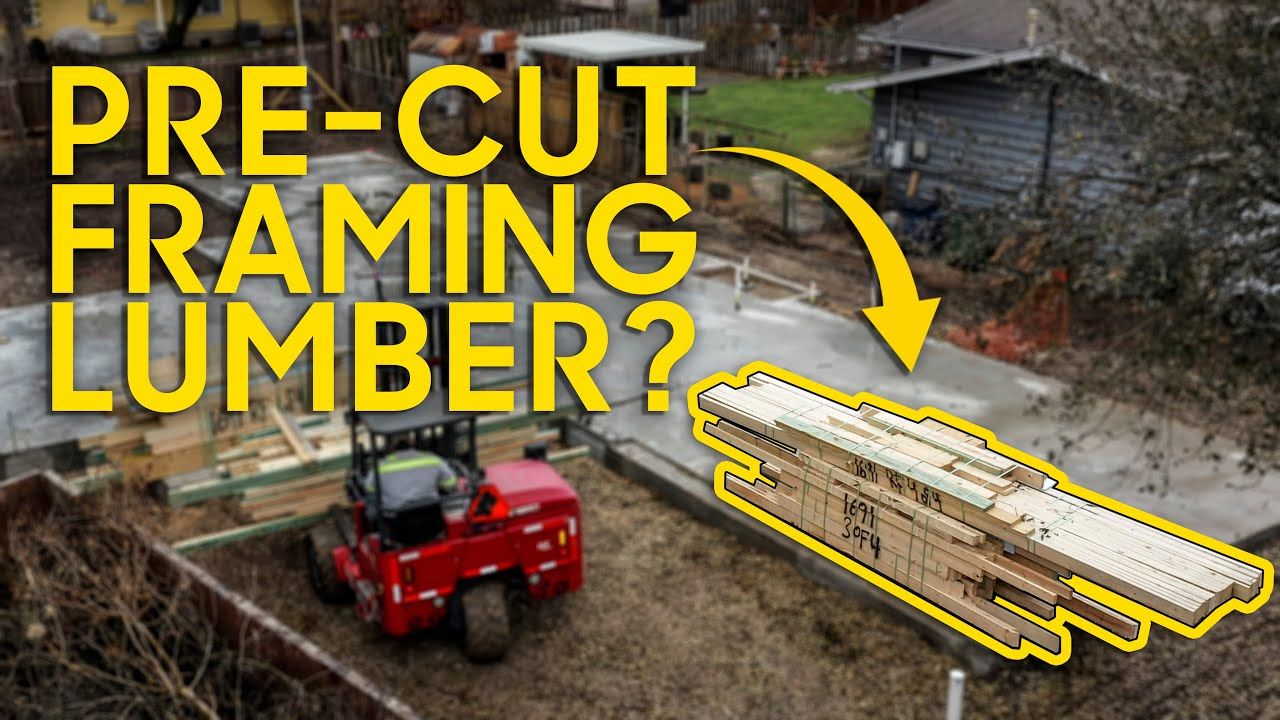 Framing with a Pre-Cut Package! Less money & waste when lumber is super expensive!