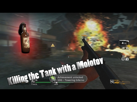 Left 4 Dead | How to Kill the Tank with a Molotov!!!