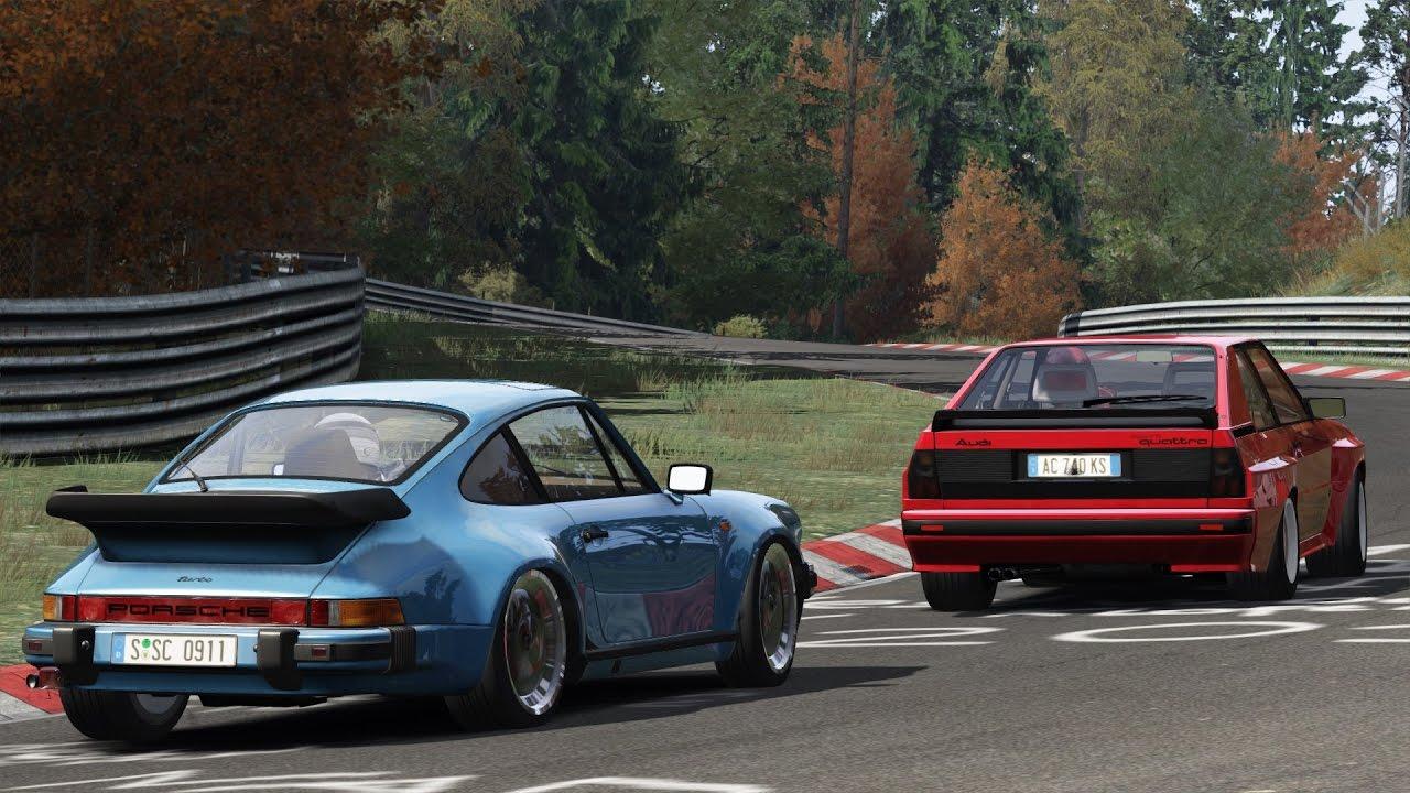 Porsche 930 turbo 3.3 vs Audi Sport Quattro / Nürburgring / Assetto Corsa