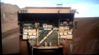 Drifting a mining truck
