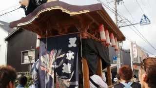 二俣諏訪神社祭典2013 叉水連花屋台 「四丁目くずし(ちゃんちゃら)」