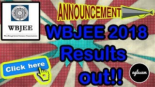 WBJEE 2018 Result announced, How to download the Rank card | wbjeeb.nic.in | AglaSem