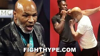 """MIKE TYSON REACTS TO """"VICIOUS"""" 20-SECOND KNOCKOUT BY FRANCIS NGANNOU AFTER TAKING HIS ADVICE"""