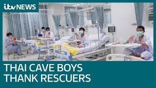 Thai boys saved from cave thank rescuers as they recover in hospital | ITV News