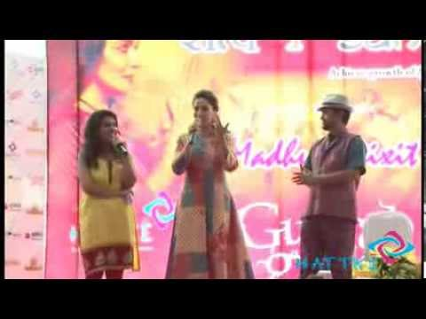 Madhuri Dixit's Hattke Entry @Satva Sahaj for Gulaab Gang movie promotion