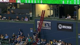 Uecker gets locked inside press booth