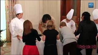 at the white house kid explains to michelle obama what a wii u is