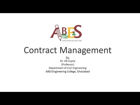 Contract Management by Dr. V B Gupta  [Construction Technology and Management ]