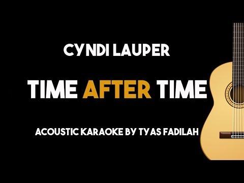 Time After Time - Cyndi Lauper Acoustic Guitar Karaoke