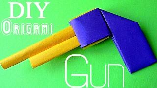 DIY Оригами ОРУЖИЕ Как сделать ПИСТОЛЕТ из бумаги своими руками | Origami How to Make a Paper Gun