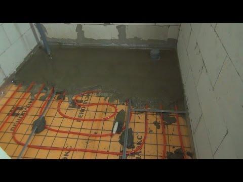 видео: Цементная стяжка для теплого пола