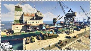 EPIC SURVIVOR BASE ON ABANDONED CARGO SHIP (GTA 5 GAMEPLAY)