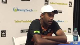 Rajeev Ram after loss to Sam Querrey at Delray