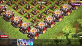 Clash of Clans!!!Full X bow max level vs miner