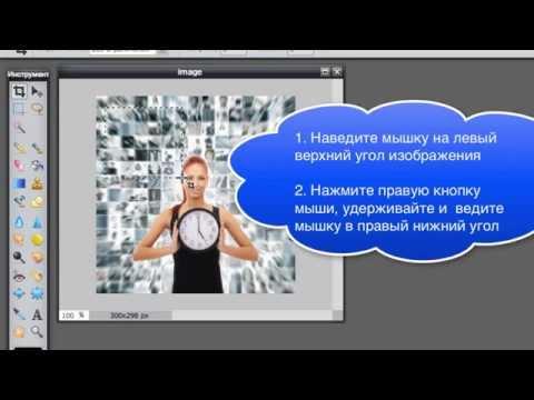 Как обрезать изображение в программе Photoshop онлайн - Pixlr Editor