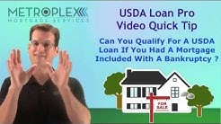 Can you Qualify for a USDA Loan After Bankruptcy and Prior Mortgage Debt? | USDA Loan Pro