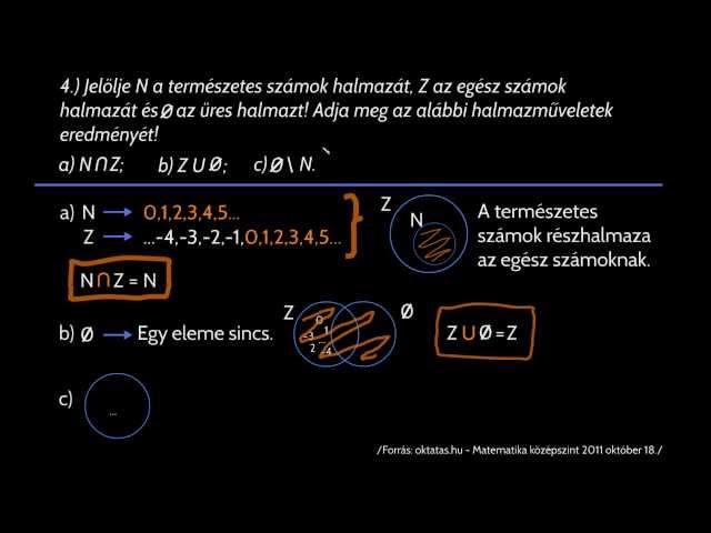 4. feladat - számelmélet,halmazok
