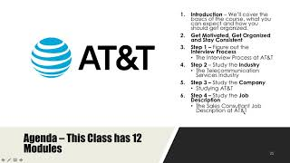 AT&T Sales Consultant Interview Preparation Course
