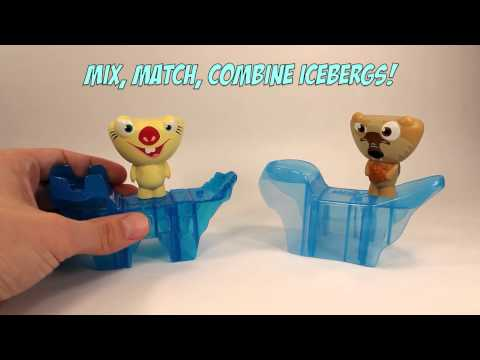 Ice Age 4 Continental Drift Mcdonalds Happy Meal Toys Complete Set Of 6 Review Youtube