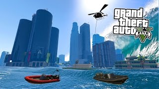 GTA 5 PC Mods - TSUNAMI MOD SURVIVING & EXPLORING! GTA 5 Tsunami Mod Gameplay! (GTA 5 Mods Gameplay)