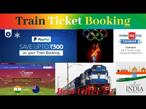 Train Ticket Booking Cashback Offers | Make My Trip | Goibibo | Zingoy Cricket League
