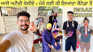 Our First Day in INDIA | Yummy Food | Luggage Opening with Family | Punjabi Vlogger