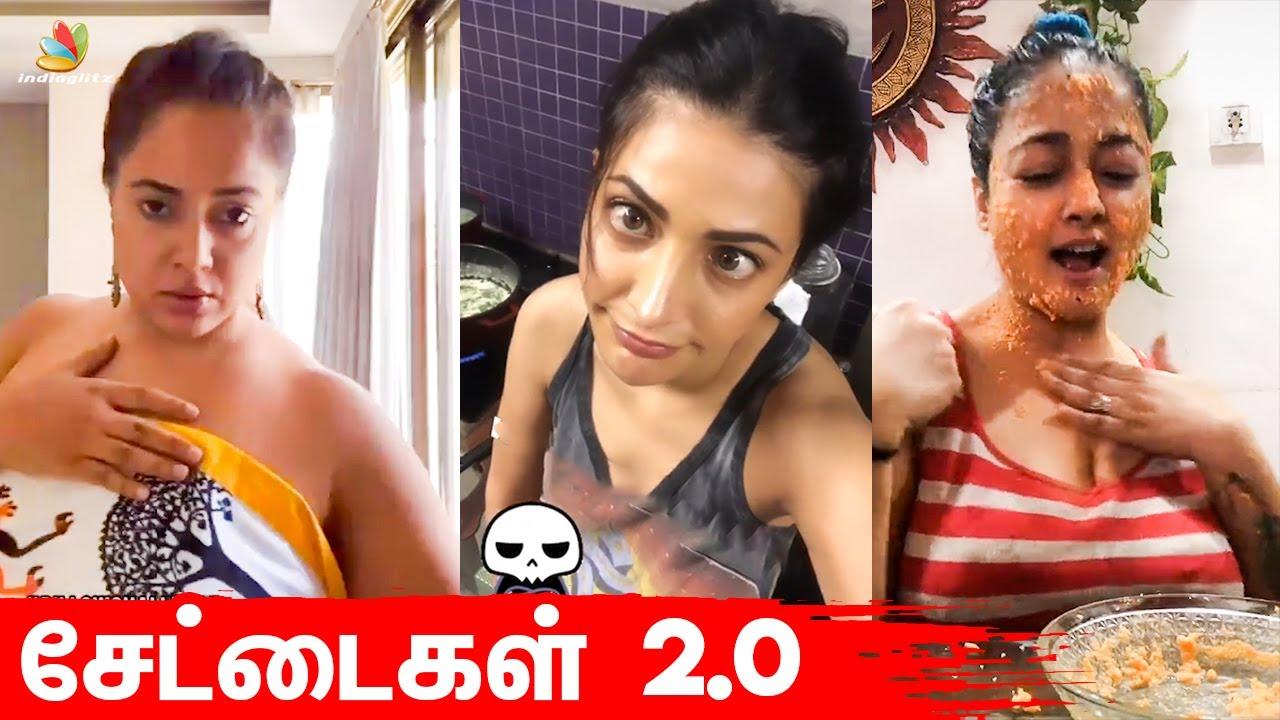 தம ழ நட க கள ன அலப பற Shruti Haasan Rakul Sameera Reddy Vj Chithu Tamil Actress Tamil News Youtube