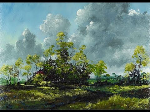 Abandoned Farm – Time Lapse Painting