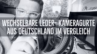 Wechselbare Leder-Kameragurte Made in Germany im Vergleich thumbnail