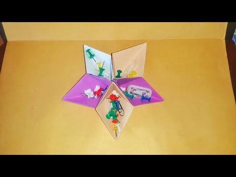 Star Box , Storage box  , Yıldız Kutu , Easy Origami Box , Diy , box , How to make origami , Origami