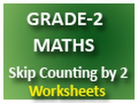 grade 2 maths sky counting by 2 worksheets youtube. Black Bedroom Furniture Sets. Home Design Ideas