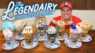 Legendairy Gallon of Milkshake Challenge w/ 8 Gourmet Freakshakes!!