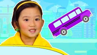 The Wheels on the Bus | Learn Colors | Colors of the Rainbow