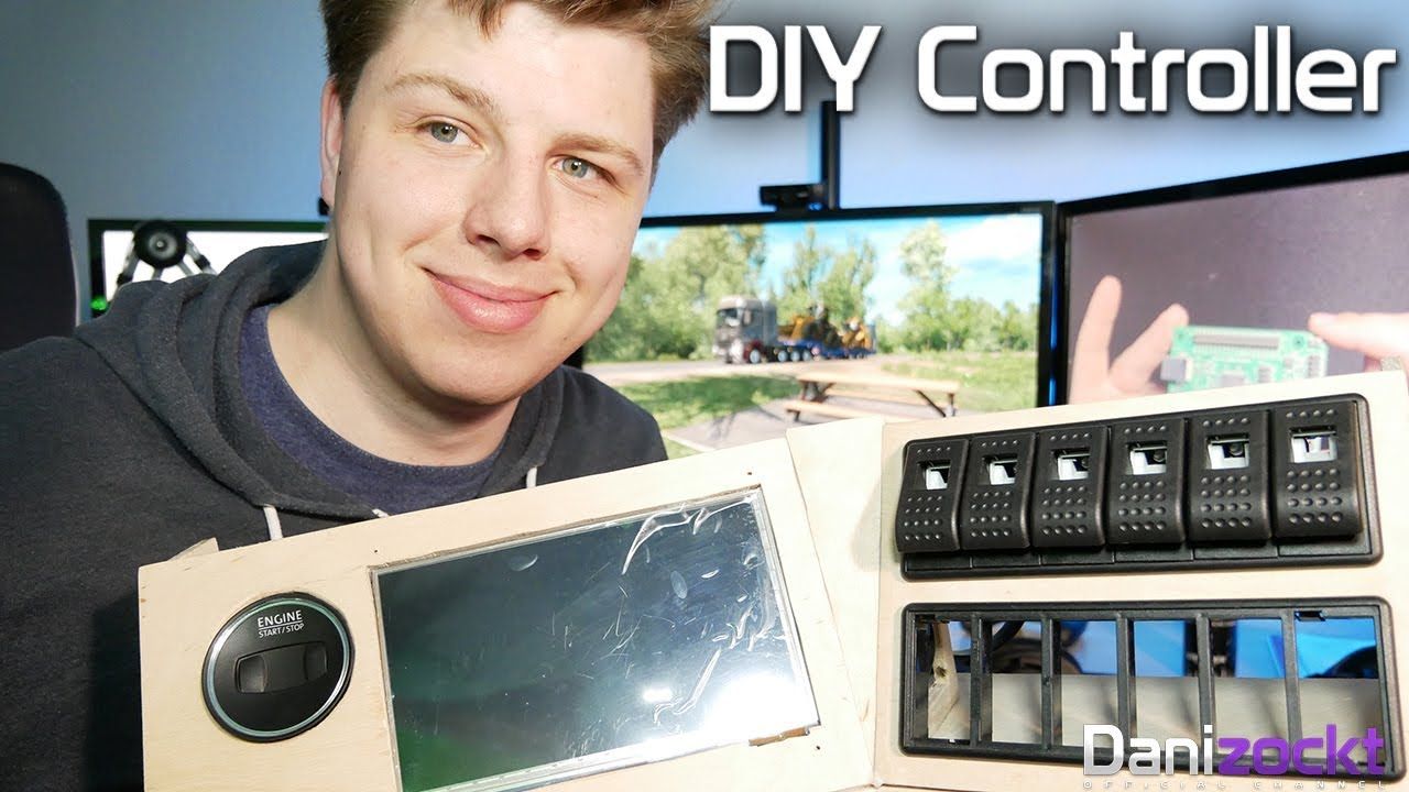 diy controller cockpit f r ets2 ats landwirtschafts. Black Bedroom Furniture Sets. Home Design Ideas