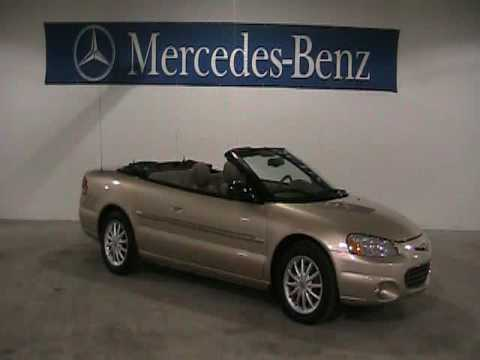 For sale 2001 chrysler sebring convertible with only for Rochester mercedes benz