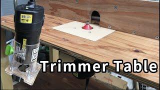 DIY トリマーテーブルの作り方 Making trimmer table.