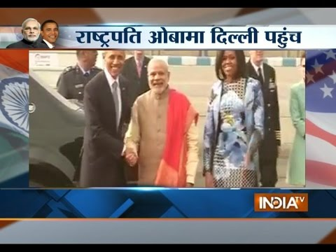 Obama's Visit: US President's Air Force One Landed at Airport - India TV
