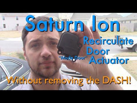 Saturn Ion Recirculate Door (Mode Door) Actuator Replacement (Without removing the dash!)