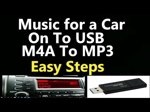 Music For a Car M4A To Mp3 on a USB Thumb Drive, Easy Steps .. Learn How