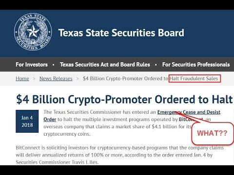 BitConnect Ordered To Stop In Texas - Here's How To Comply