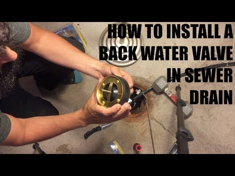 How to install sewer drain backwater valve (drain float) July 20 2017 David Fouad Winnipeg REALTOR®