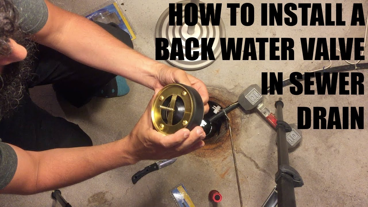How to install sewer drain backwater valve (drain float) July 20 ...